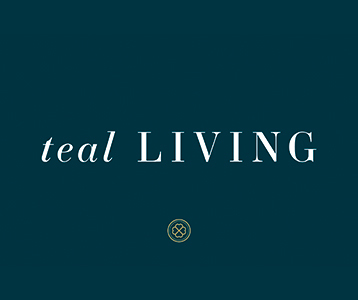 teal living logo bcfa open